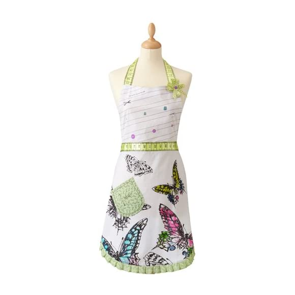 Sewing Themed Butterfly Apron