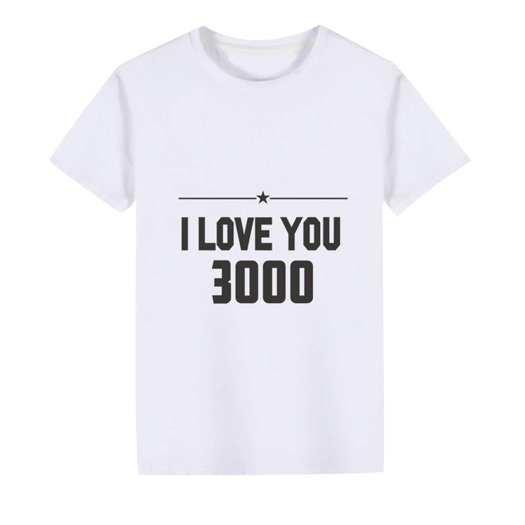 Dapei Baby Kids Girls Boys I Love You 3000 Printed T-Shirt Tops Clothes Legend Never Die Shirt