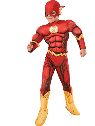 Rubie's Costume DC Superheroes Flash Deluxe Child Costume, (Boy Superhero Costume)