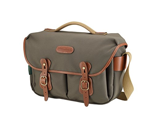 Billingham Hadley Pro, Small SLR Camera System Shoulder Bag, Sage with Tan Leather Trim.