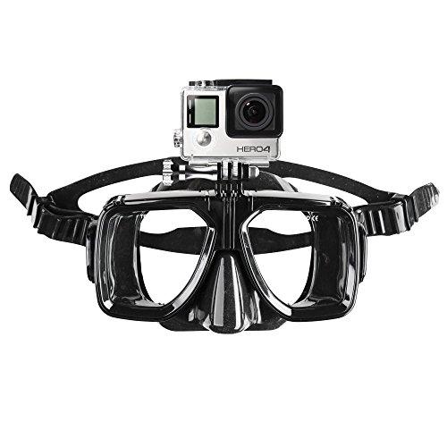 Mantona Lunettes de plongée avec fixation pour caméra GoPro