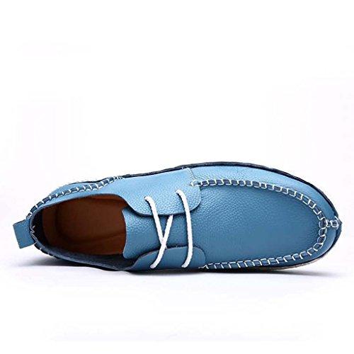 ZXCV Zapatos al aire libre Zapatos al aire libre del color sólido del ocio de los zapatos de los hombres Azul