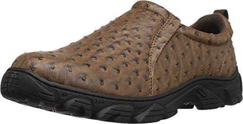 Roper Men's Cotter Faux Leather Ostrich Print Shoe Ostrich Print Leather Shoes
