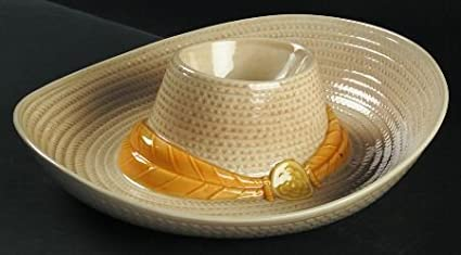 Amazoncom Metlox Sombrero Hat Dish Matches Chip Dip Miniature