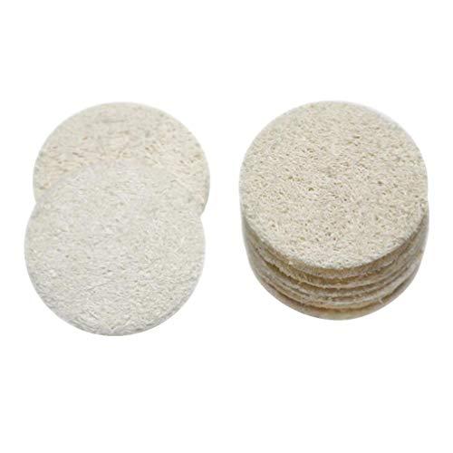 SUPVOX Loofah Exfoliating Scrubbing Sponges Complexion Skin Disc Disk Pads Bath Spa For Men Women 18pcs (5cm)