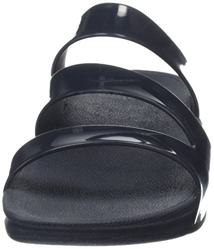 Superjelly Negro Fitflop Tm Mujer Twist Schwarz Chancletas Para PFUqS