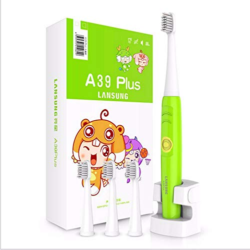Green Children LANSUNG A39 Plus Ultrasonic Electric Toothbrush Rechargeable Oral Care Teeth Brush IPX7 wireless charging 4 Heads