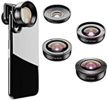 Apexel HD Mobile Phone Camera Phone Lens Set - 10x Macro Lens, 2X Telephoto Lens, 110°Wide Angle, 170°Super Wide Angle,...