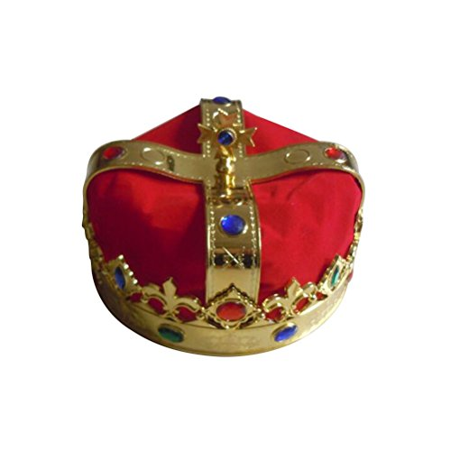 OULII King's Crown Hat Party Costume Accessory Royal Jeweled Crown Cosplay Mardi Gras Carnival Party Favors ()