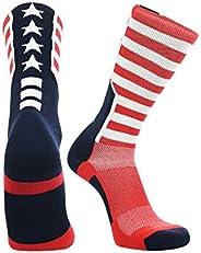 Stars and Stripes Perimeter Socks (Scarlet/Navy/White, Large)