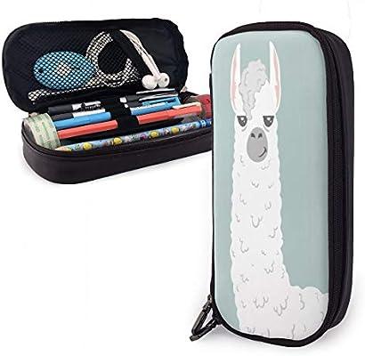 Estuche para lápices de lindo dibujo animado de Lama Alpaca, estuche para bolígrafos, estuche antigolpes para la escuela, estudiantes, niñas, adolescentes, niños y adultos: Amazon.es: Oficina y papelería