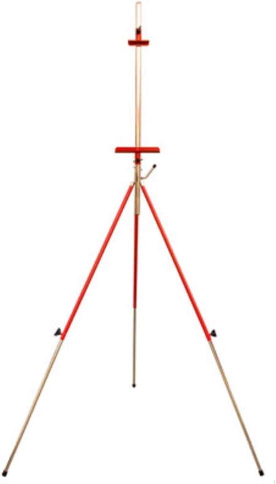 XCJJ Caballete de mesa de trabajo plegable de acero inoxidable, estante triangular portátil para bocetos de gouache, 2 colores para elegir,B