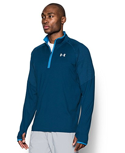 Under Armour Men's No Breaks Run 1/4 Zip, Blackout Navy /Reflective, Small by Under Armour (Image #2)