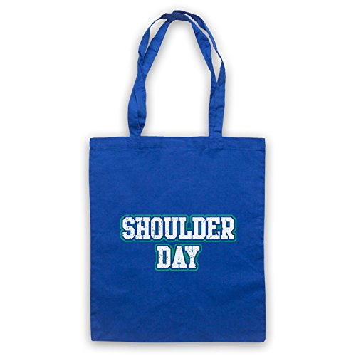 Workout Tote Day Bag Bodybuilding Blue Slogan Shoulder Royal qE1Ig