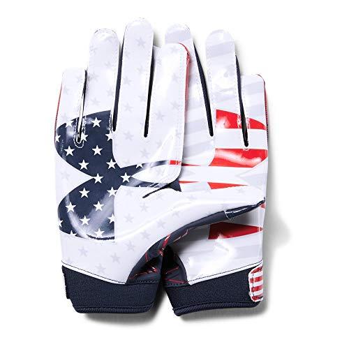 Under Armour Boys F6 Le Football Gloves Midnight Navy 410 White