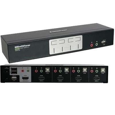 4 Port HDMI Multimedia KVM Electronics Computer Accessories