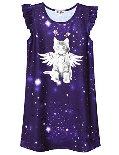 4t Sleepwear - Little Girls Cat Nightgown Cotton Nightdress Sleepwear Pajamas for Kids