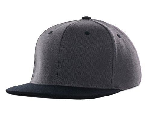 Fit Woven Flex Hat - Top Of The World By Lids Stretch Fitted Blank Slam One-Fit Flex Baseball Hat Cap (One Size Fits Most, Charcoal/Black)