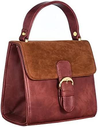 Bag For Women,Burgundy - Shoulder Bags