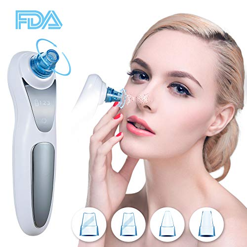- CYQBD Blackhead Remover Pore Vacuum,4 Adjustable Suction Head Facial Pore Cleaner Electric Acne Extractor Kit with 3 Suction Levels with LED Display