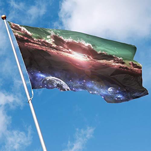 - Garden Flag Sunset Nebula Stars Outdoor Yard Home Flag Wall Lawn Banner Polyester Flag Decoration 3' X 5'