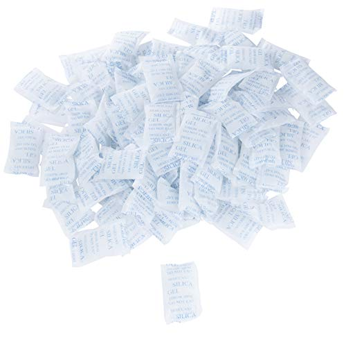 Silica Gel Packets - 100-Pack Silica Gel Packs, 10 Gram Desiccant, Dehumidifier, Prevent Humidity, Mold, Mildew, Odor by Juvale (Image #5)