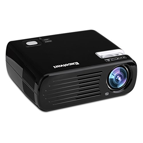 Excelvan 2600 Lumens 200'' Max Portable Mini LED HD Multimedia LCD Indoor Outdoor Home Cinema Theater Projector (Black) by Excelvan