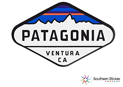 (Oval Patagonia venture text 4x5.5 inches size - funny stickers for construction hard hat pro union working men lunch box tool box symbol window motorcycle biker car - Made and shipped in USA)