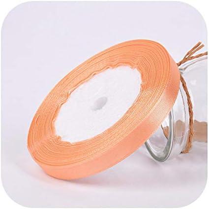 kawayi-桃 25ヤード/ロールグログランサテンリボン結婚式の誕生日パーティーの装飾DIY弓クラフトリボンカードギフトラッピング用品-26-10mm