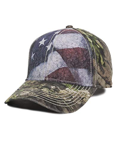 Mossy Oak Country Camo American Flag Camo Hunting Hat