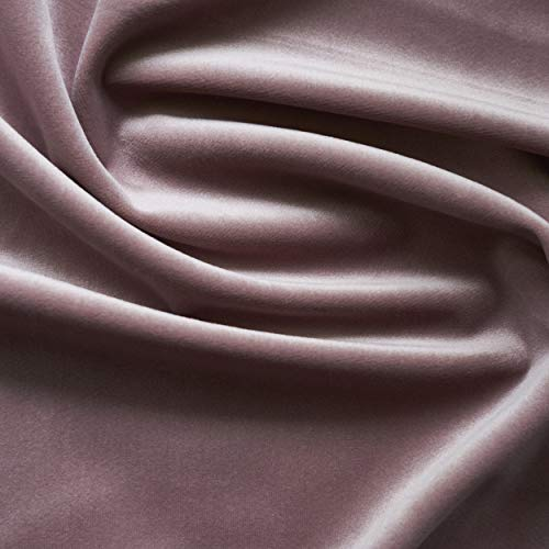 - Solid Drapery/Upholstery Soft Velvet Fabric Color Mauve by The Yard