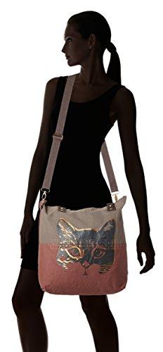 Adelheid Abenteurerin Einkaufstasche - Borsa Donna Grigio taupe 10x39x44 Cm b X H T