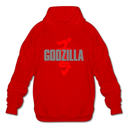 [AOPO Godzilla Men's Long Sleeve Hooded Sweatshirt / Hoodie X-Large Red] (Anguirus Costume)