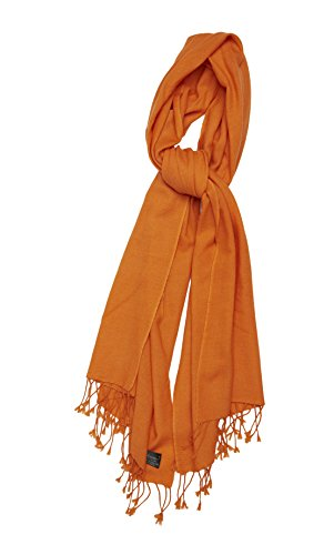 Pure Cashmere Shawl (Burnt Orange)
