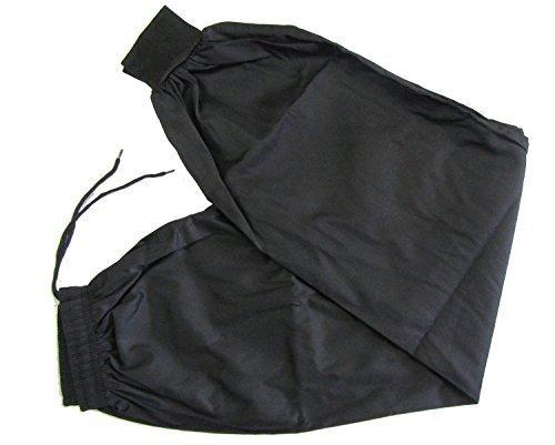 Kung Fu Hose schwarz Größe 3 160 cm Martial Arts Kleidung mit Cuffed Knöchel Traditioneller Stil, Kung Fu Hose Wing Chun Training von Shihan