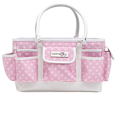 - Everything Mary Deluxe Store and Tote Organizer | Bin for Scissors, Pens, Pencils, and Craft Materials, | Storage Tote for Office, Home, and Craft Supplies (Pink Star)