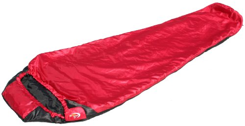 Snugpak 92550 Travel Pak Lite Crimson Red Black, RH Zip