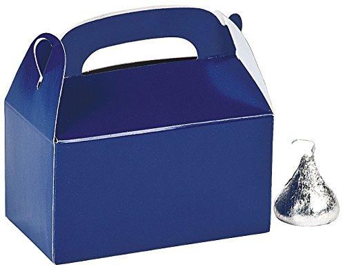 Blue Favor Boxes - Mini blue treat boxes (2 dozen) - bulk