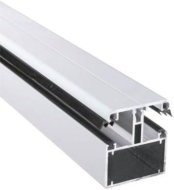 Blanc 9010 5 m/ètres Long autoportant jusqu/à 3,50 m/ètres DHAZE Kit Profil TUB60 de jonction en aluminium capot /à visser pour plaque 32 mm