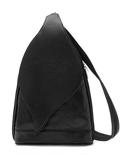Bag Shoulder Womens Convertible Amethyst Rucksack Backpack Black Retail Vera Pelle Leather Handbag Ladies wpfF8qB