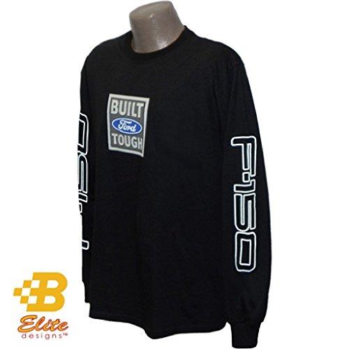Ford F150 Collectibles - Ford F150 Built Ford Tough Black Long Sleeved Shirt Black- Medium