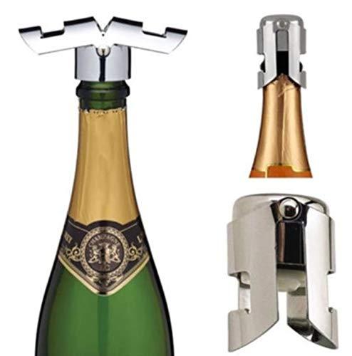 Wine Stoppers - Sell Stainless Steel Stopper Sparkling Wine Champagne Bottle Plug Cork Pourer Sealer S - For Cute Fleur Champagne Elephant Gift Baseball Nautical Wars Italy (Wine Glass Stopper Monogram)