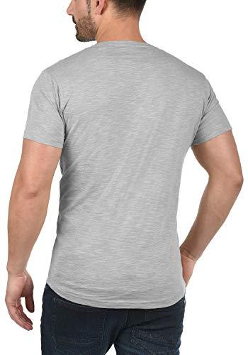 Redondo T Corta Algodón Con Cuello Camiseta solid Manga Figos De 2545 Para 100 Monument shirt Básica Hombre wff7YBq