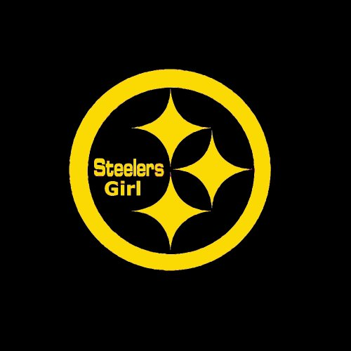 "Pittsburgh Steelers Girl Emblem Car Window Decal Sticker Gold 5"" by customdecaltattooz"