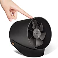 USB Desk Fan Qoosea Super Quite Touch Control Metal Frame Portable Table Fan Dual Motor Driver Personal Fan for Home Office Travel 2 speed - Black
