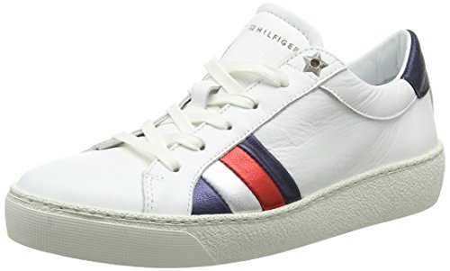 Sneaker Iconic Hilfiger Femme Corporate Sneakers Tommy Blanc Basses 100 white SWtfqxnw