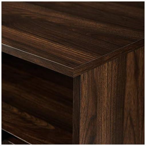 Kitchen 58″ Angled Door Sideboard – Dark Walnut modern buffet sideboards