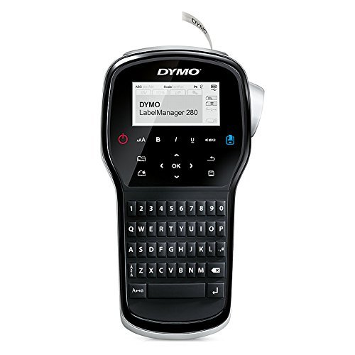 (DYMO Label Maker | LabelManager 280 Rechargeable Portable Label Maker, Easy-to-Use, One-Touch Smart Keys, QWERTY Keyboard, PC and Mac Connectivity, for Home & Office Organization (Renewed))