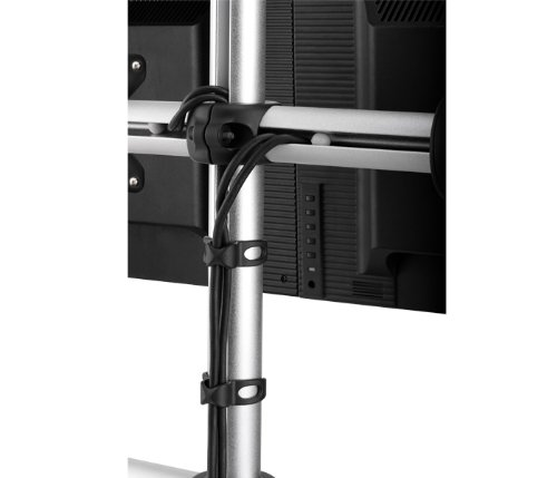 Atdec VFS-DH Dual Freestanding Horizontal Desk Monitor Mount (Supports two displays horizontally up to 27″) with horizontal or vertical orientation, swivelling heads and QuickShift mechanism, Silver by Atdec (Image #3)