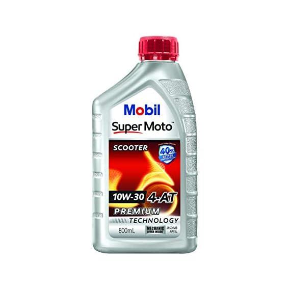 Mobil Super Moto 10W-30 API SL 4-at Premium Technology Scooter Oil (0.8L)